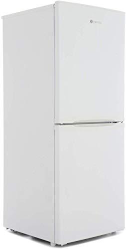 Hoover HSC536W 136 x 55cm A+ Static Freestanding Fridge Freezer with LED Light, 2 Door Balconies, White