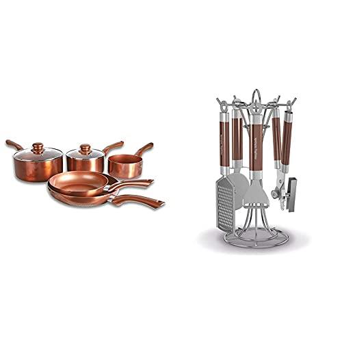 Cermalon 5-Piece Ceramic Set, Aluminium, Copper, 46 x 29 x 13 cm