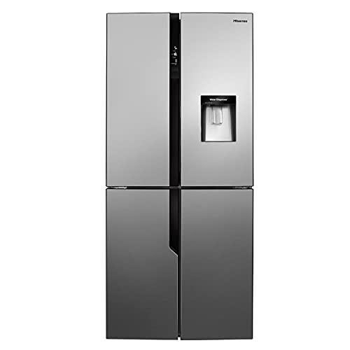 Hisense RQ560N4WC1 80cm Free Standing American Fridge Freezer Cross Door - Total No Frost - My Fresh Choice - Non-plumbed Water Dispenser - Stainless Steel