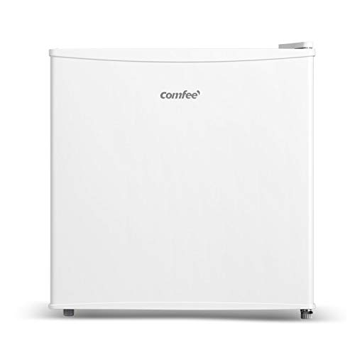 COMFEE' 32L Freezer RCD40WH1(E) Mini Freezer with Reversible Door Hinge, Large Space Table Top fridge with Fire Backing for Safety, Energy Saving Freezer – White