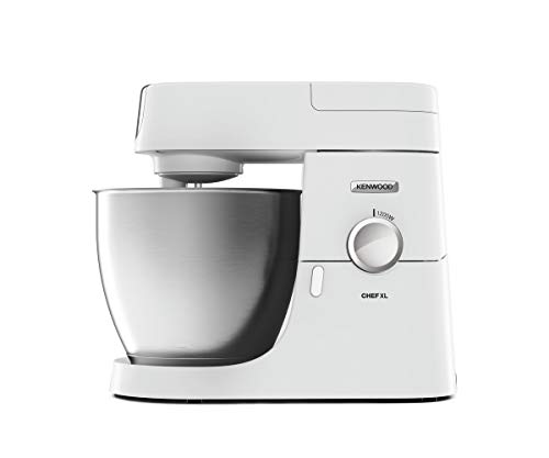 Kenwood Stand Mixer for Baking, Stylish Food Mixer, with K-beater, Dough Hook, Whisk and 6.7 Litre Bowl, 1200 W, KVL4100W, White