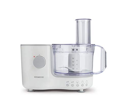 Kenwood Compact Food Processor, 1.4 L Bowl, Blender, Emulsifying, Chopping Blade, Shredder Disc 400W, FP120, White