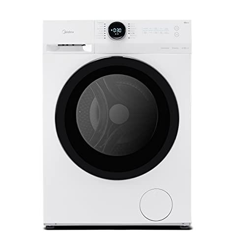 Midea MF200W90B/E Freestanding Washing Machine, BLDC and LED Display, 1400RPM, 9kg load, White [Energy Class B ]