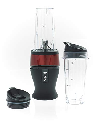 Nutri Ninja Slim Blender and Smoothie Maker [QB3001UKMRS], 700W, Metallic Red