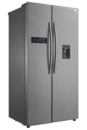 Russell Hobbs RH90FF176SS-WD American Style Fridge freezer, 90cm wide, Side by Side, A+ efficiency, 2 Year Warranty** (Stainless steel)