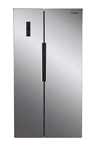 CANDY CHSBSV5172XKN Freestanding American Fridge Freezer, Total No Frost, 472L Total Capacity, Stainless Steel, 34004682