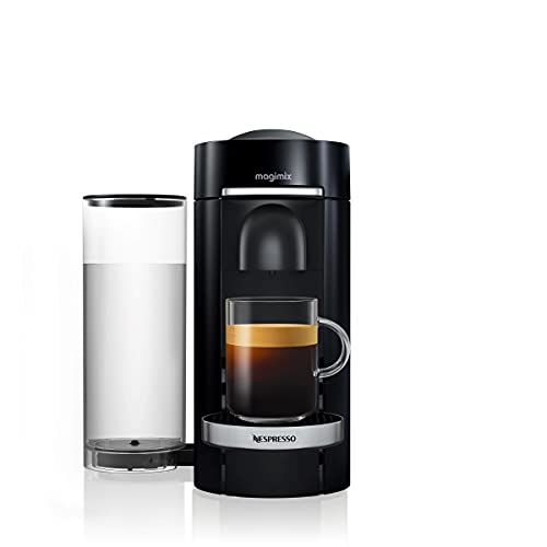 Nespresso Vertuo Plus Coffee Machine, Black Finish by Magimix | 11385 - 3 Months of Coffee and an Aeroccino