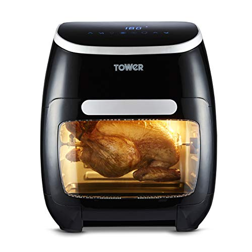 Tower T17039 Vortx 5-in-1 Digital Air Fryer Oven with Rapid Air Circulation, 60-Minute Timer, 11L, 2000W, Black