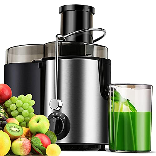 Juicer Extractor, Centrifugal Juicer, Juicer Machine for Fruits & Vegs, Electric Juicer with 3 Speed and Pulse Function, Easy to Clean, Anti-drip, Included Brush, 400W