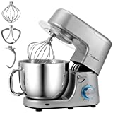 Stand Mixer, Cookmii 1800W High Power Professional Food Mixer, Tilt-Head Cake Mixer with Large Capacity of 7.2 L Stainless Steel Bowl, Dough Hook, Beater, Whisk