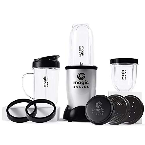 NUTRiBULLET Magic Bullet Deluxe Blender, Mixer & Food Processor, Silver