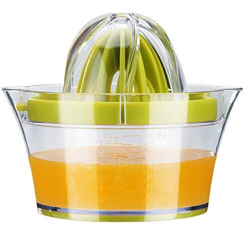 G.a HOMEFAVOR Lemon Orange Citrus Squeezer, Manual Lemon Orange Citrus Lime Juicer, Multifunctional Orange Lemon Lime Press with 2 Reamers & Measuring Container