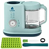Lictin Baby Food Blender Steamer - Baby Food Processor 4 in 1 Multifunctional Healthy Baby Food Maker, Baby Food Steam Blender for Toddlers (UK Plug)