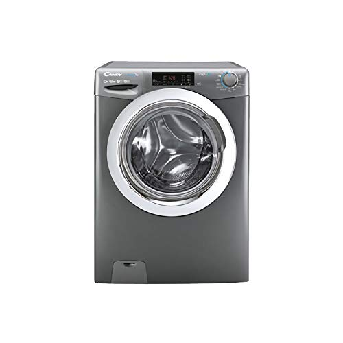 Candy Smart Pro CSO14103TWCGE Free Standing Washing Machine, WiFi Connected, 10 kg Load, 1400 rpm, Graphite