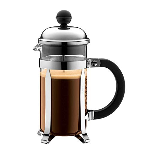 BODUM Chambord 3 Cup French Press Coffee Maker, Chrome, 0.35 l, 12 oz