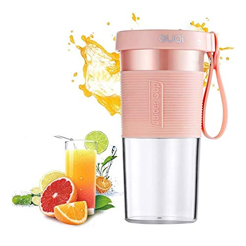 Mini Blender, Portable Blenders with Three Blades, Multi-Function Handheld Juicer Cup for Home/Office/Sport/Outdoors(Pink)