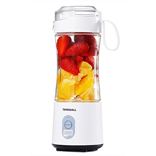 Portable Blender, Mini Blenders for Smoothies and Shakes, Handheld Fruit Mixer Machine 13oz USB Rchargeable Juicer Cup, Ice Blender Mixer Home/Office/Outdoors