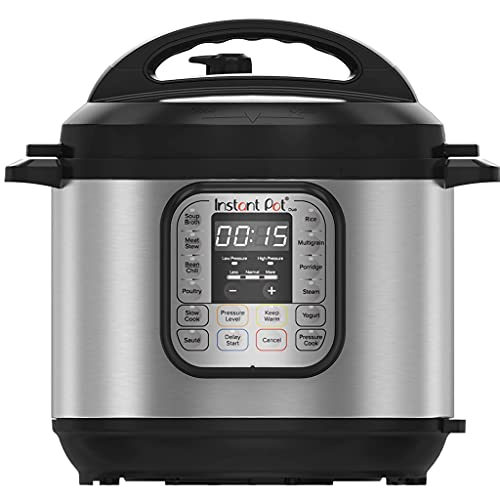 Instant Pot 80 Duo 80 Electric Multi Function Cooker, Stainless Steel, 1200 W, 8 litres - Pressure Cooker, Slow Cooker, Rice Cooker, Steamer, Sauté, Sterilizer, Yogurt Maker