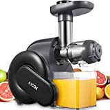 Juicer Machine, Aicok Slow Masticating Juicer with Reverse Function, Cold Press Juicer with Upgrade Quiet Motor, Juice Jug and Brush for High Nutrient Juice, BPA Free