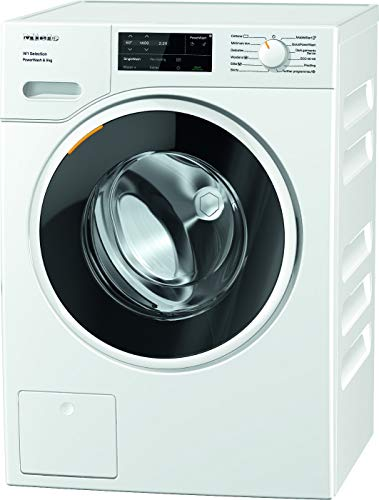 Miele WSG363 Freestanding Washing Machine with Quick PowerWash, 9 kg Load, 1400 rpm spin, White[Energy Class A]