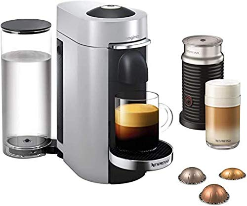 Nespresso Vertuo Plus & Milk, Silver Finish by Magimix | 11388 - 3 Months of Coffee and an Aeroccino