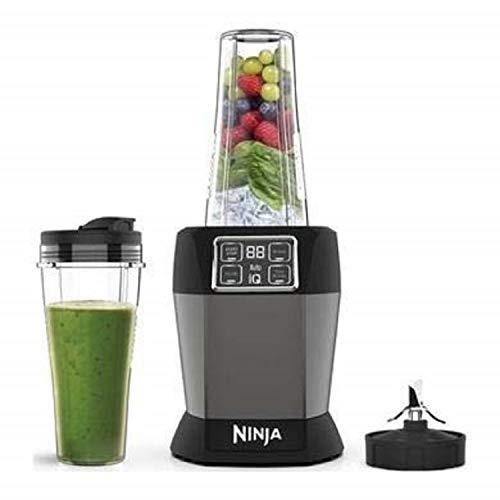 Ninja Blender with Auto-iQ [BN495UK] 1000 W, 2 x 700 ml Cups, Black/Silver