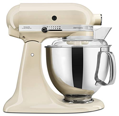 KitchenAid 4.8 Litre Artisan Stand Mixer 5KSM175PS with Bowls and Standard attachments (Almond Cream)