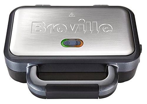 Breville Deep Fill Sandwich Toaster and Toastie Maker with Removable Plates, Non-Stick, Stainless Steel [VST041]