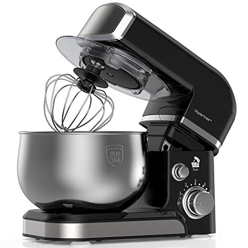 Lilpartner Stand Mixer, 1000W Electric Kitchen Mixer Food Mixer, 6-Speed Tilt-Head Dough Mixer with 3.5L Stainless Steel Bowl, Mixing Beater, Whisk, Dough Hook