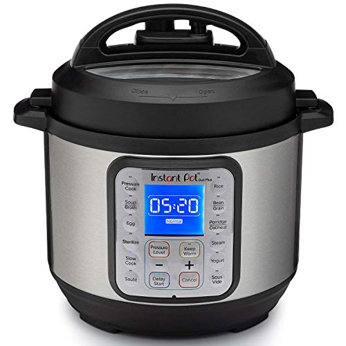 Instant Pot Duo Plus 3L Electric Pressure Cooker. 13 Smart Programs: Pressure Cooker, Rice Cooker, Slow Cooker, Steamer