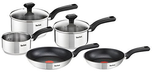 Tefal C972S544 5 Piece, Comfort Max, Stainless Steel, Pots and Pans, Induction Set, Silver