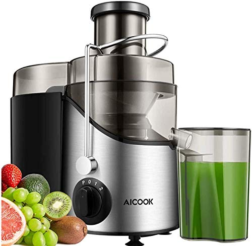 Juicer, Professional 3 Speed Juicer Extractor Whole Fruit and Vegetable, 2021 Upgraded Motor, Powerful Pulse Function, Higher Juice and Nutrition Yield, Food-Grade Material, Easy to Clean