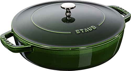 STAUB 40511-478-0 Cast Iron Chistera 28 cm Basil Green