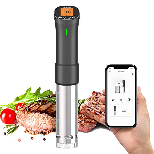 Wi-Fi Sous Vide Cooker - Inkbird Precision Cooker ISV-200W Sous Vide Machine Immersion Circulator with APP Control & Wireless Alarm, 1000 Watts