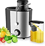 Juicer, Bagotte Juicers Whole Fruit and Vegetable Easy Clean, 600w, Stainless Steel Juicer Machine with Wide Mouth, Dual Speed Mode, BPA-Free