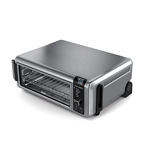 Ninja Foodi Mini Oven [SP101UK] 8-in-1 Flip Mini Oven, Air Fryer, Bake, Grill, Silver