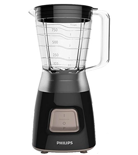 Philips HR2052/91 Daily Collection Blender, 1.25 Litre, 450 W, Black