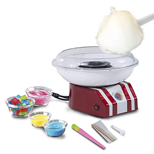 HOMCOM Professional Candy Floss Machine Electric Cotton Candy Maker Gadgetry 450W
