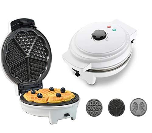 Donut Waffle Maker, Donut Maker 3 in 1 Non-Stick Plates Donut Machine 1000 Watt Donut Maker Mini Electric Removable Donatsmaker Easy To Clean