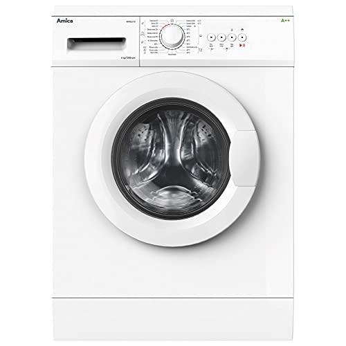 Amica WME610 Freestanding Washing Machine, 6kg Load, 1000rpm Spin, 23 Programmes, White