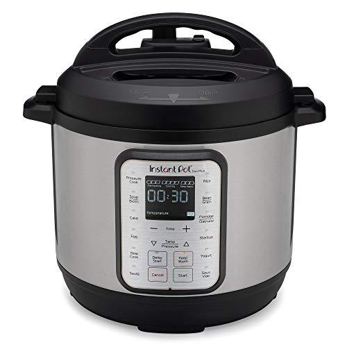 Instant Pot Duo Plus 5.7L Electric Pressure Cooker. 15 Smart Programs: Pressure Cooker, Rice Cooker, Slow Cooker, Steamer, Sauté Pan