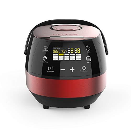 DREW & COLE 01113 14 in 1 Intelligent Digital Multi Cooker, Aluminum, 860 W, 5 liters, Red, Aluminium