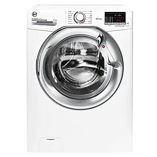 Hoover H3WS4105DACE 10KG 1400RPM A+++ Washing Machine- White with Chrome Door