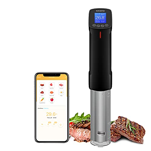 Inkbird Sous Vide WiFi Precision Cooker Precision Cooker Immersion Circulator, Temperature Time and Touch Control Sous Vide Machine 1000 Watts
