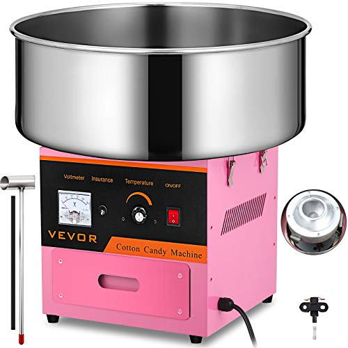 KITGARN Candy Floss Maker Cotton Candy Machine Candy Floss Makers for Children with Stainless Steel Tray and Scoop Party Supplies Holiday Snacks Home Commercial Use