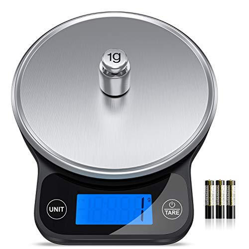 Kitchen Scales,13 lbs/6kg Digital Scales Kitchen Weight Grams and Oz, Electronic Food Scales for Baking and Cooking,1g/0.1oz Precise with Back-Lit LCD Display(Batteries Included)