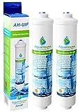 2X AquaHouse AH-UIF Universal External Fridge Water Filter fits Samsung LG Daewoo Rangemaster Beko Haier etc Fridge Freezer (Replaces External Filters only)