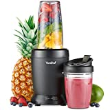 VonShef Personal Blender Multifunctional Powerful Smoothie Maker and Mixer for Fruit, Vegetables Shakes and Ice Includes 800ml and 500ml Portable Cups – 1000W