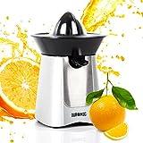 Duronic Citrus Fruit Juicer JE6SR Silver 100W Powerful Citrus Press Juicer / Juice Squeezer Extractor with Dripless Spout
