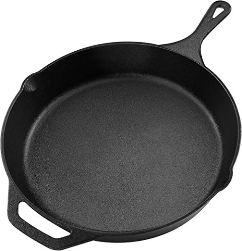 Kichly Pre-Seasoned Cast iron Skillet - Frying Pan - Safe Grill Cookware for indoor & Outdoor Use - 12.5 Inch (31.75 cm) Cast Iron Pan